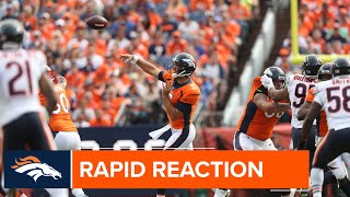 Rapid reaction & highlights from the Broncos' home opener vs. the Bears