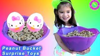 🌹Bé Peanut Tìm Trứng Bất Ngờ Trong Giỏ Đậu Phộng 🌹Peanut Bucket Surprise Toys Hello Kitty