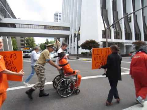 Guantanamo Force-Feeding Protest Portland City Hall