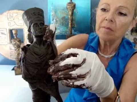 PowertexCreations U.S. Make your own sculpture with Powertex - Nefertiti