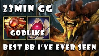 [Bristleback] BEST BB I'VE EVER SEEN Destroyed Everyone in 23Min GG & GODLIKE FullGame Dota 2 7.22b