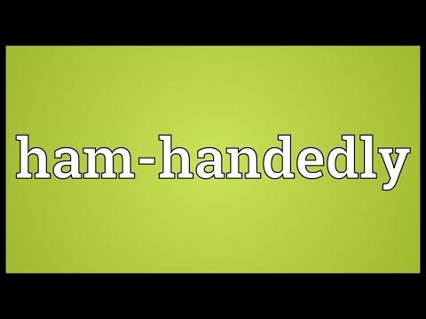 Header of Ham-Handedly