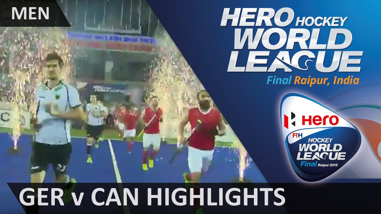 Germany v Canada Match Highlights #HWL2015 #Raipur