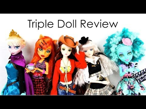 Triple Doll Review: J Doll   Monster High: Coffin Bean & Frights. Camera. Action   Frozen Deluxe
