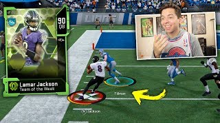 LAMAR JACKSON BREAKING ANKLES IN HIGH SCORING GAME! MADDEN 20 ULTIMATE TEAM