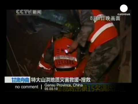 Rescue operation after massive mudslides in China - no comment