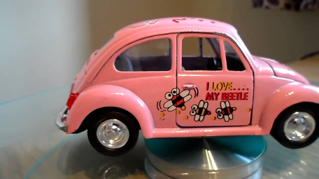pink toy car vw volkswagen beetle  love  beetle bee friction powered youtube
