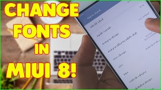 Change/Install fonts in MIUI 8 without ROOT on any MIUI device!