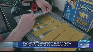 Man makes computer from pasta