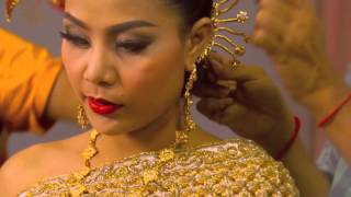 dressed in traditional Khmer wedding for aaliyah