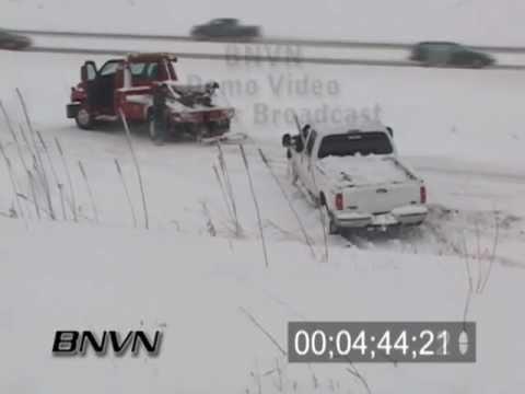 Various Winter Weather Bad Driving Conditions Stock Video Part 6