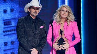 Cmas 2018 Carrie Underwood Reveals She 39 S Expecting Another Son In Hilarious Gag Access