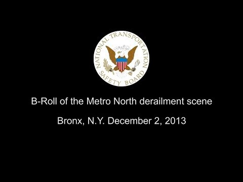 B-Roll of the Metro North derailment scene Bronx, N.Y. December 2, 2013