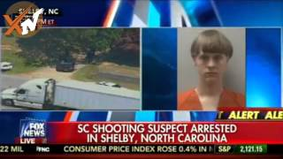 Charleston Shooting - Church shooter arrested in custody - Dylann Roof Arrest Scene!