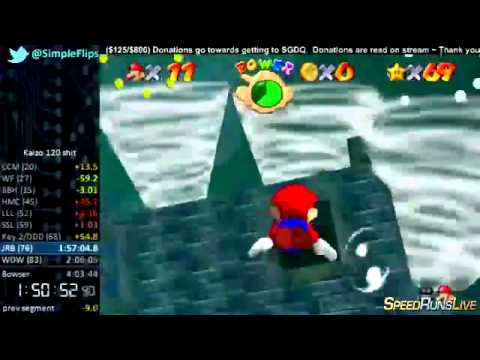 "Kaizo Mario 64 120 Star Speedrun ""World Record"" in 3:36:24"