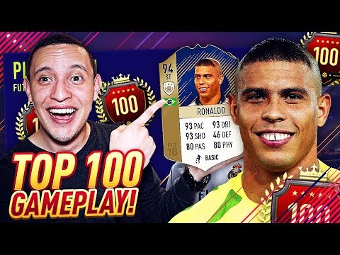 OMG WE GOT ICON 94 RONALDO!! *MOST EXPENSIVE ST* TOP 100 MONTHLY GAMEPLAY! | FIFA 18 ULTIMATE TEAM