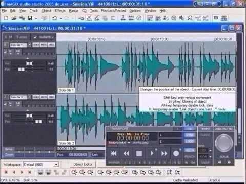 magix music studio 2005 deluxemixer youtube