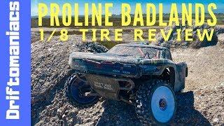 DRIFTOMANIACS - Proline Badlands 1/8 Buggy Tire Review On Arrma Senton
