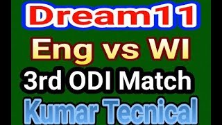 Dream11 England vs West Indies 3rd ODI Match Prediction Playing XI Dream11 Winning Team In Hindi 201