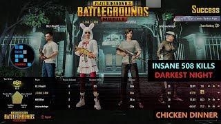 "[Hindi] PUBG MOBILE | INSANE ""508 ZOMBIE KILLS"" IN DARKEST NIGHT MODE & CHICKEN DINNER"