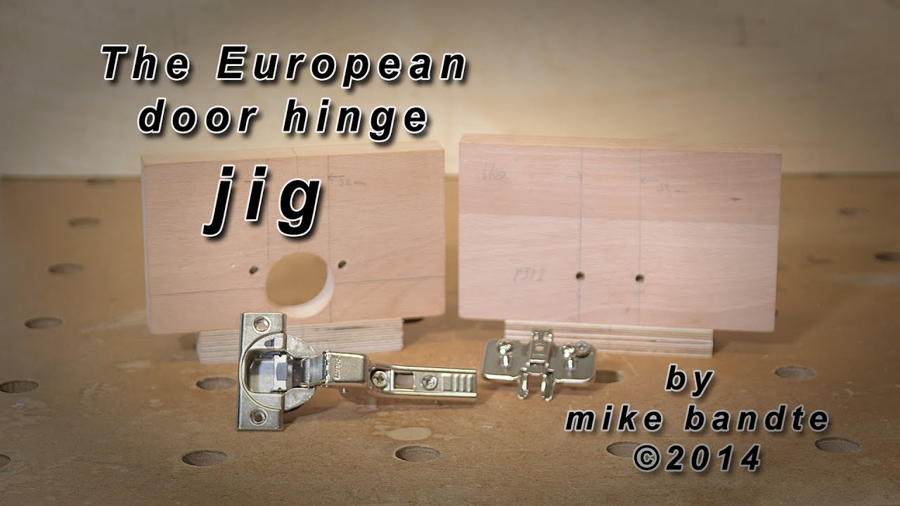 How To Build A Europaen Door Cup Hinge Jig Deutsch Folgt