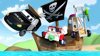 Tàu cướp biển🏴☠️ - đội thi công 🚧 những bộ phim hoạt hình về xe tải Vietnamese Cartoons for Kids