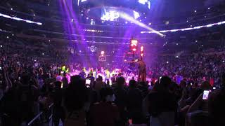 Live at the game, Lakers Starting Line Up Intro 2019 Section 116 Row 3