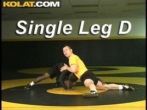 Single Leg Sprawl Defense KOLAT.COM Wrestling Techniques Moves Instruction Image 1