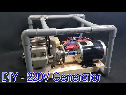 How to make 220v Dynamo Generator Using 2-stroke Engine