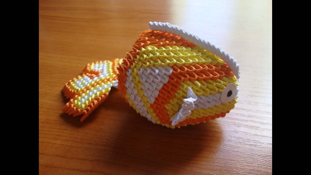 3d origami mini koi fish youtube for Origami koi fish