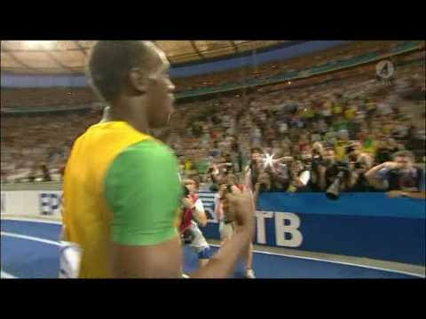 Usain Bolt 19.19 new WORLD RECORD 200M Berlin 2009 [HQ] Video