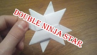 How To Make a Paper Double Ninja Star - Origami