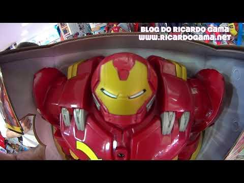 Iron Man Avengers Marvel Age of Ultron -Homem de Ferro boneco que fala e emite sons