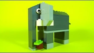 How To Build Lego ELEPHANT - 10681 LEGO® Creative Building Cube Creations for Kids