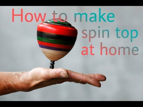 How to make spin top || lattu || at home || from bottle cap ||