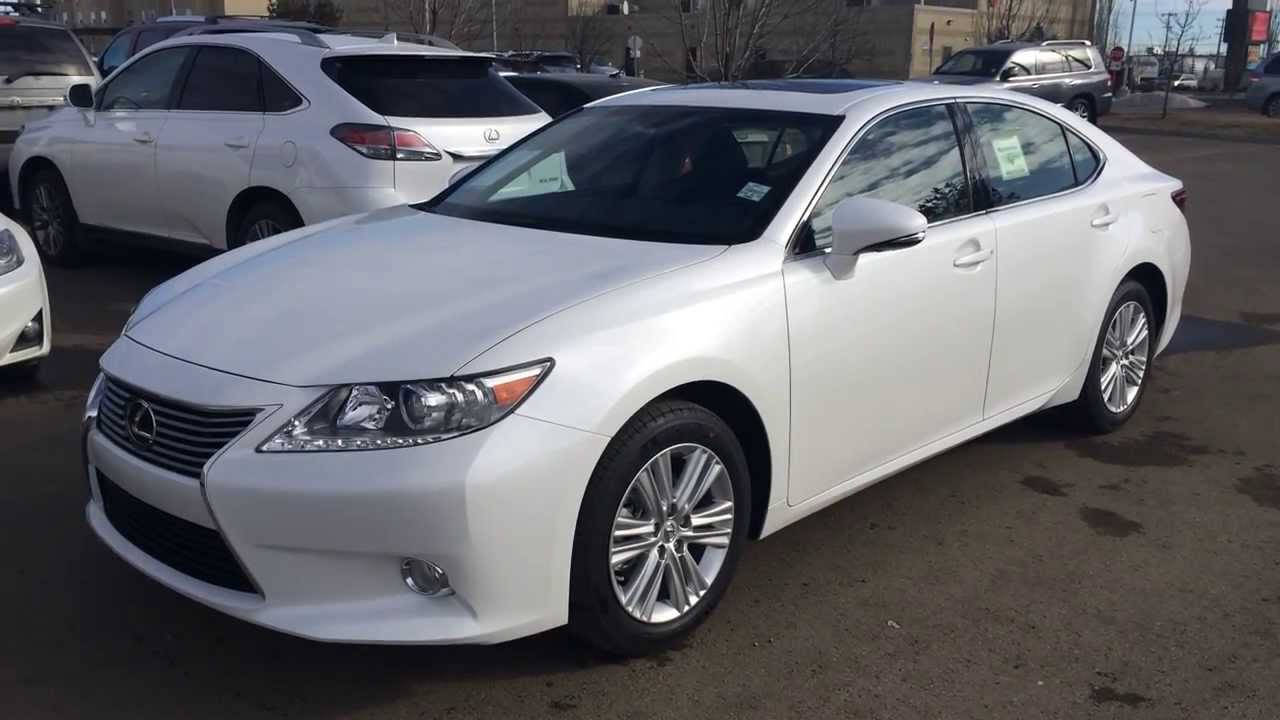 2014 lexus es 350 premium package review in white starfire pearl youtube