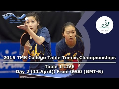 2015 TMS College Table Tennis Championships - Day 2 Table 1 LIVE