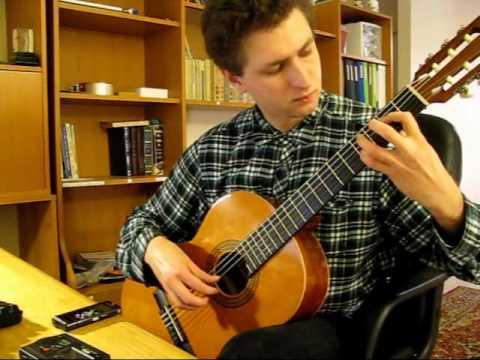 Mozart - Bouree (very easy piece) (Guitar)
