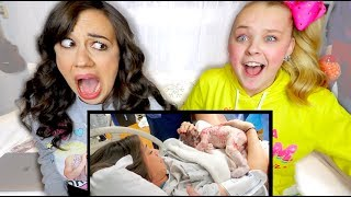REACTING TO RAW FOOTAGE OF MY BIRTH WITH JOJO SIWA!