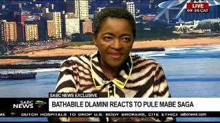 16 Days of Activism | Bathabile Dlamini reacts to Pule Mabe saga