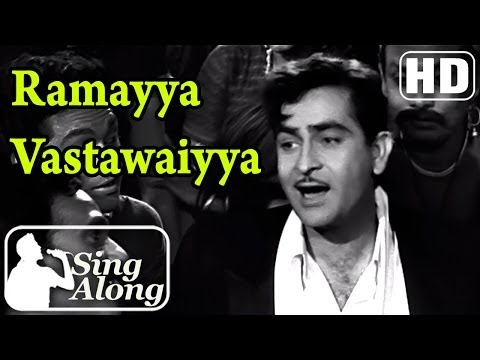 Ramayya Vastawaiyya (HD) - Mukesh Old Hindi Karaoke Song - Shree...