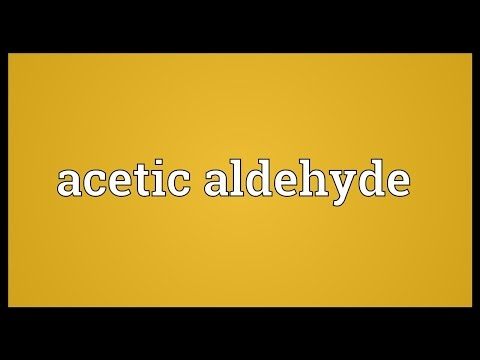 Header of acetic aldehyde