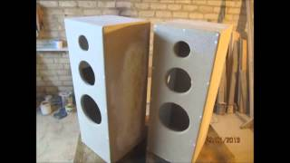 Very powerful self-made speaker towers