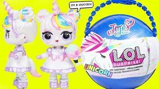 JOJO SIWA Unicorn Custom LOL Surprise Doll - Big Customized Pearl Fizz Shell, DIY Blind Bags Sisters