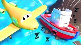Xe tải kéo cho trẻ em - Xe tải kéo Tom giúp đỡ chiếc tàu Bobby - Thành phố xe 🚗 phim hoạt hình về xe