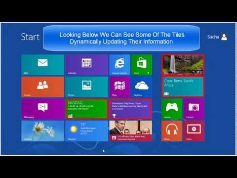 Windows 8 - Beginners Guide Part 1 - Start Screen & Charm Bar [Tutorial]
