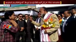 Lady Doctor Shouts at Union Minister KJ Alphons at Imphal Airport
