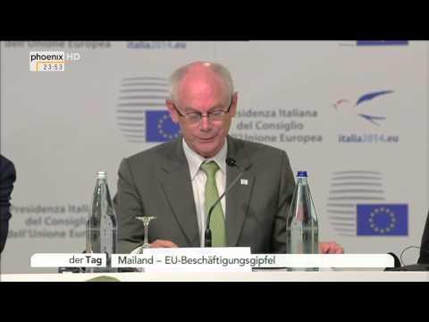 EU-Beschäftigungsgipfel: Merkel, Barroso & Van Rompuy zu Jugendarbeitslosigkeit am 08.10.2014