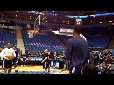 Paul George and Indiana Pacers pregame shootaround