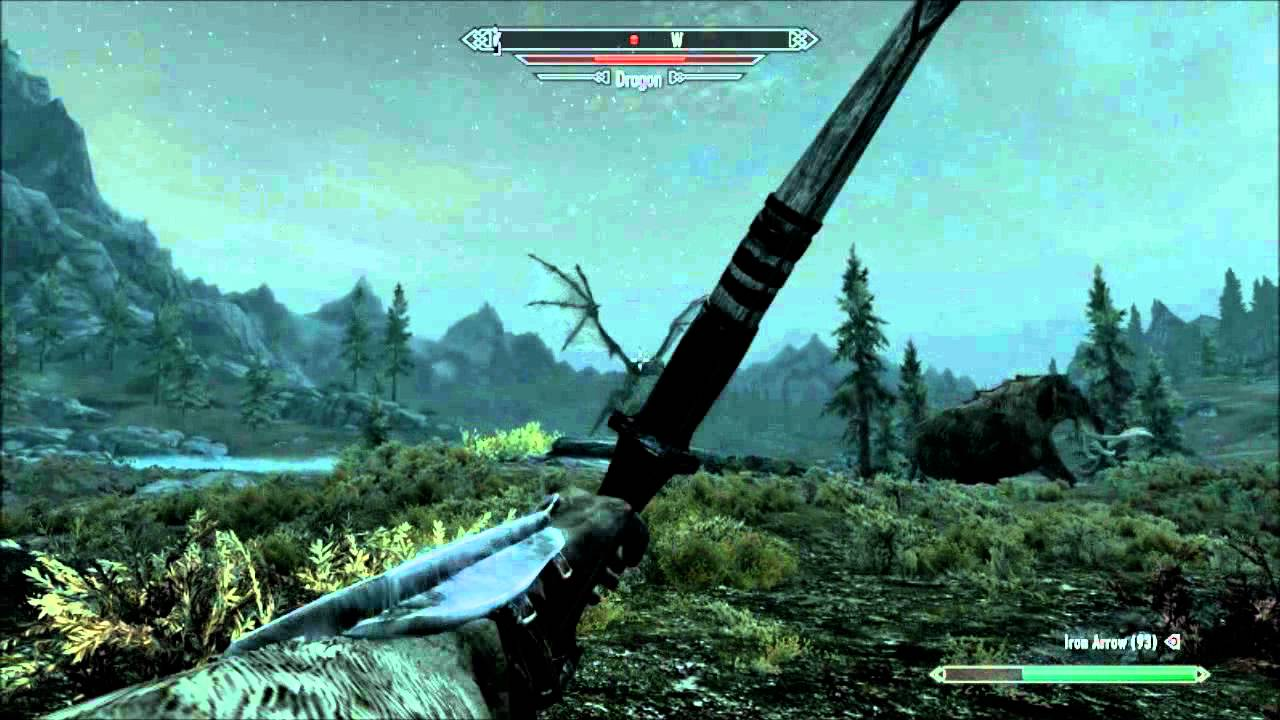 Skyrim Mammoth vs Dragon Dragon vs Mammoth And Giant